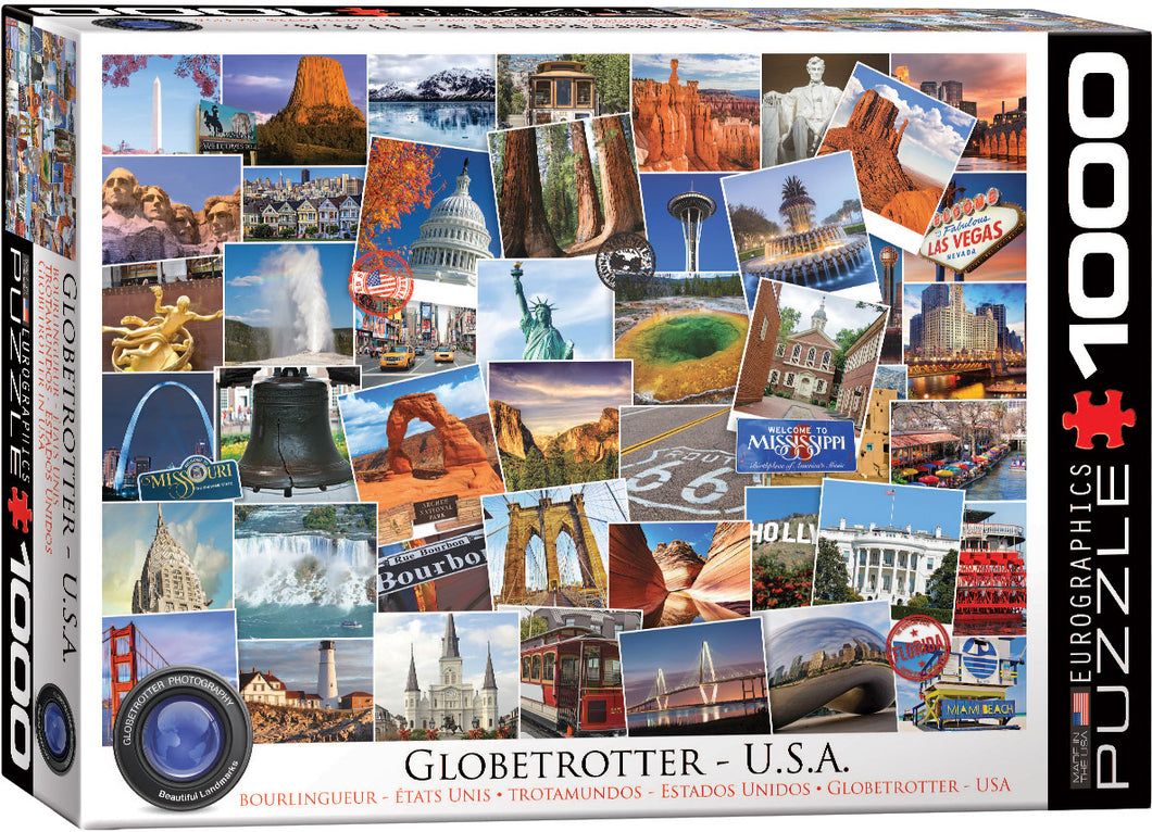 USA Globetrotter 1000-Piece Puzzle