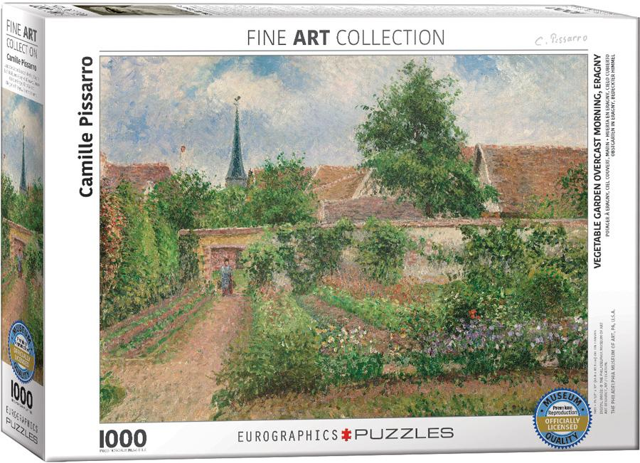 Vegetable Garden Overcast Morning, Eragny by Camille Pissarro 1000pc Puzzle