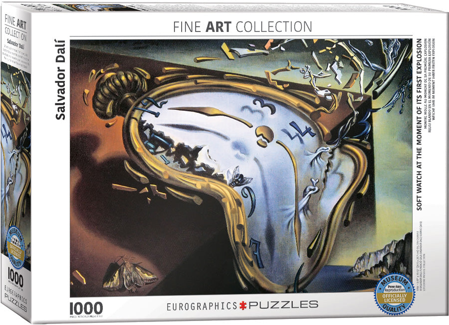 Soft Watch At Moment of First Explosion by Salvador Dalí 1000pc Puzzle