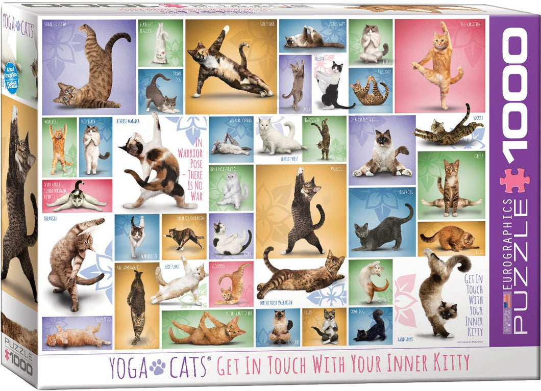 Yoga Cats 1000pc Puzzle