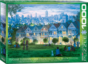 San Francisco The Seven Sisters 1000 pc Puzzle