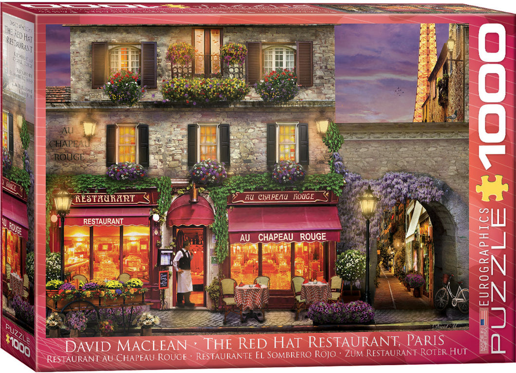 The Red Hat Restaurant Paris by David Maclean 1000pc Puzzle