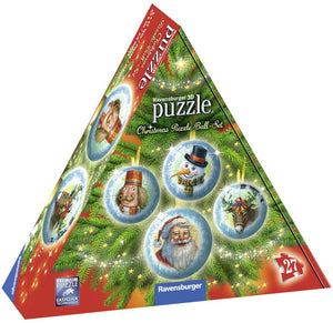Christmas Puzzle Ball Set 4x27pc 3D Puzzle
