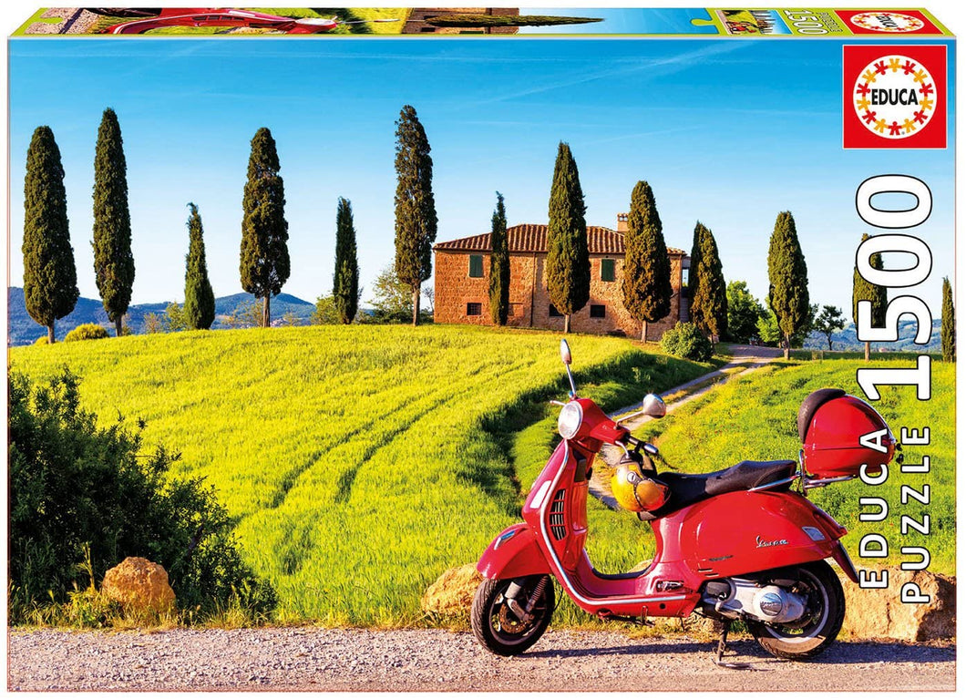 Scooter in Toscana 1500pc Puzzle