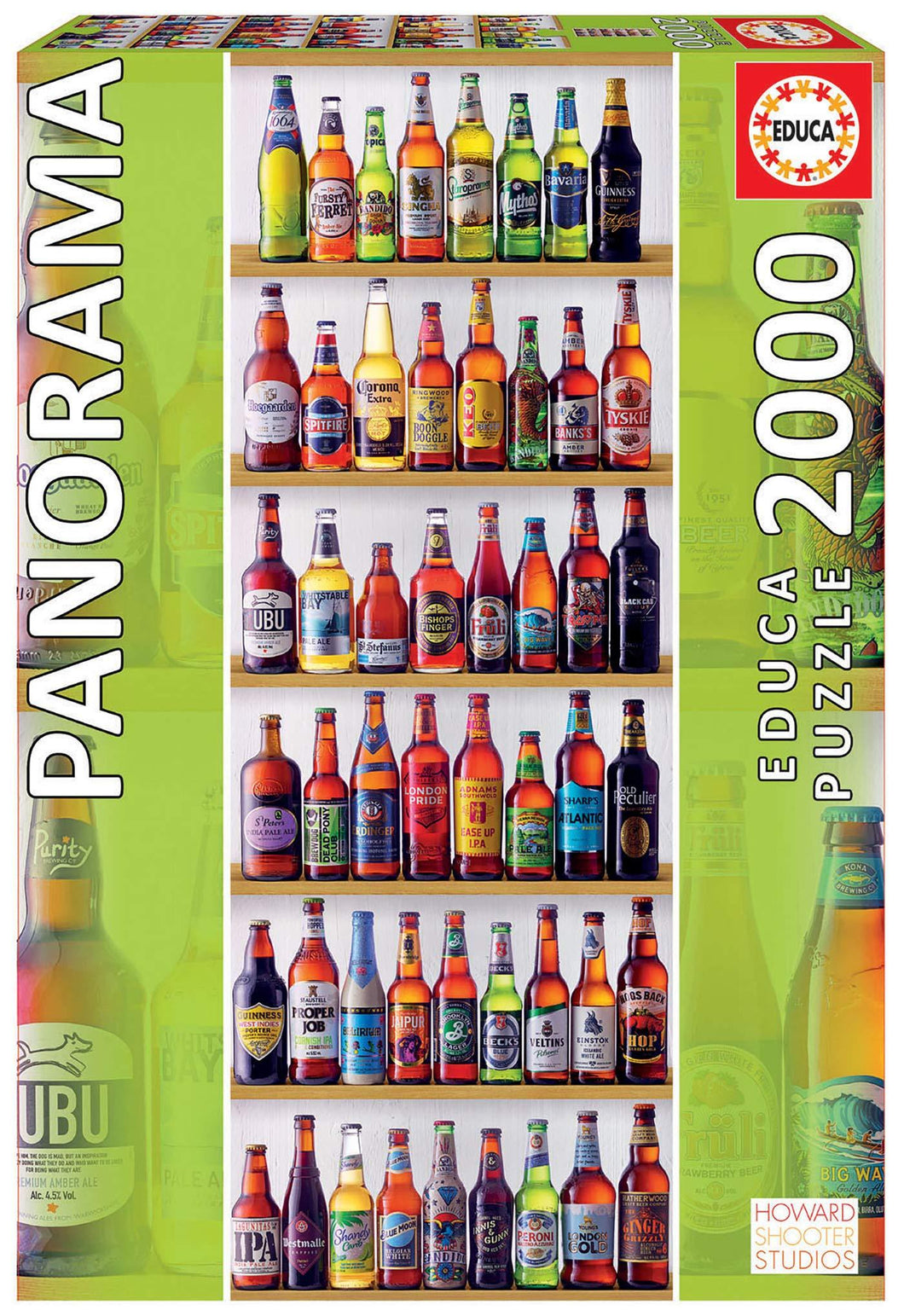 World Beers 2000pc Panoramic Puzzle