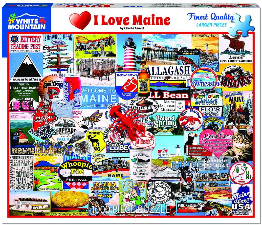 I Love Maine 1000pc Large Format Puzzle
