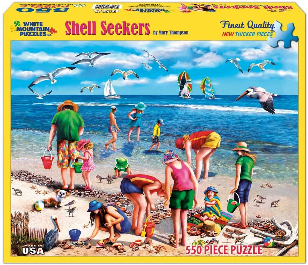 Shell Seekers 550pc Large Format Puzzle