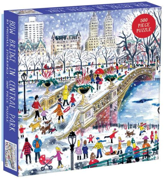 Bow Bridge in Central Park by Michael Storrings 500pc Puzzle