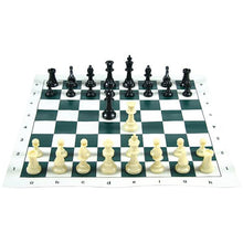 Load image into Gallery viewer, Tournament Chess Set w/ Roll-Up Board