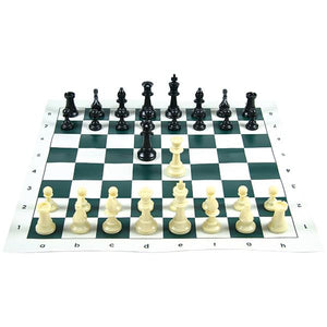 Tournament Chess Set w/ Roll-Up Board