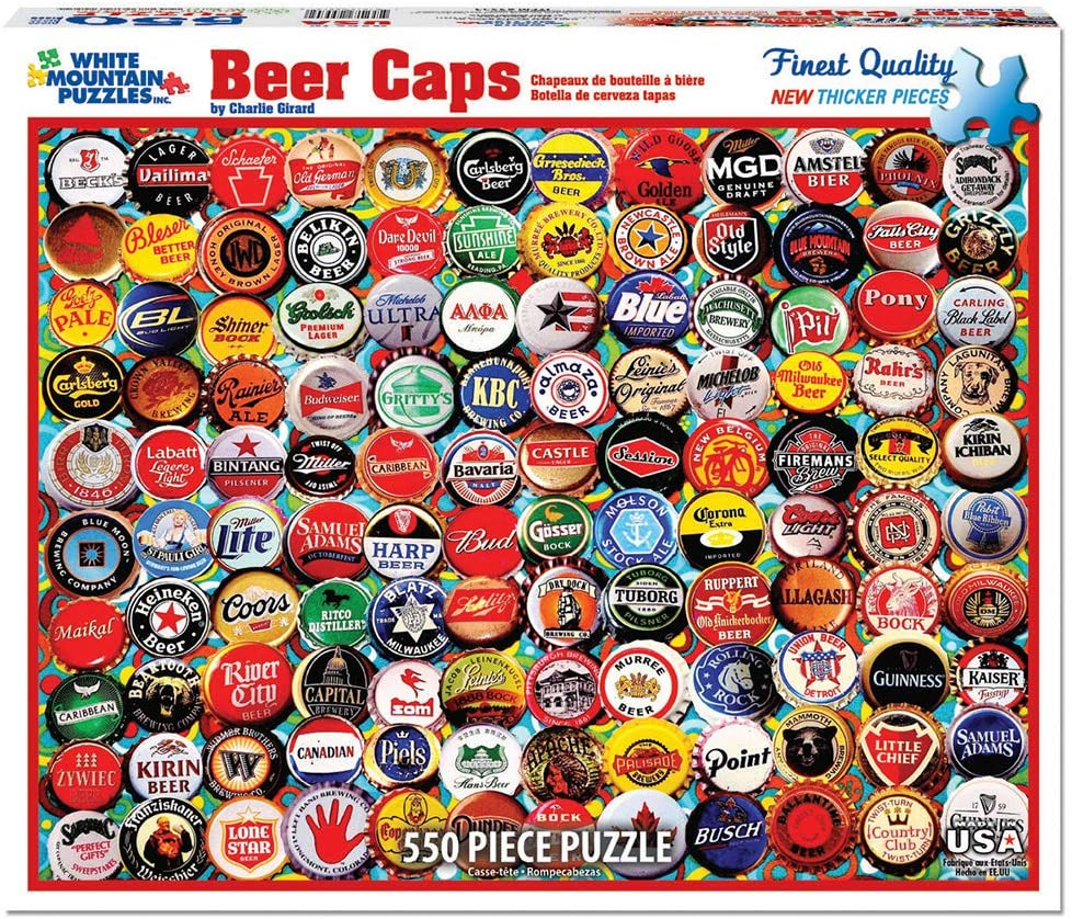 Beer Bottle Caps 550 piece White Mountain puzzle
