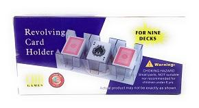 Revolving 9-Deck Card Holder