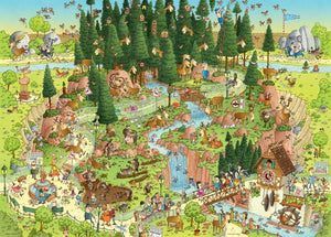 Funky Zoo: Black Forest Habitat 1000pc Puzzle