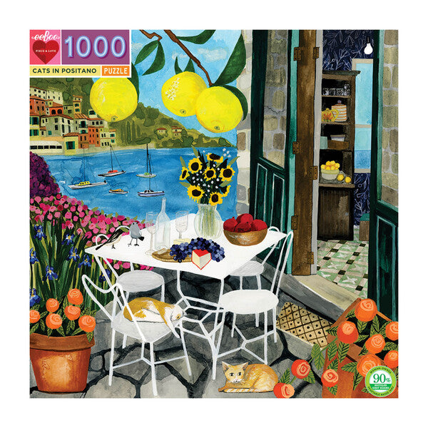 Cats in Positano 1000pc Puzzle