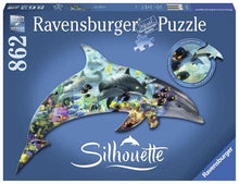 Load image into Gallery viewer, Silhouette: Dolphin 862pc Shaped Puzzle