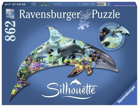 Silhouette: Dolphin 862pc Shaped Puzzle