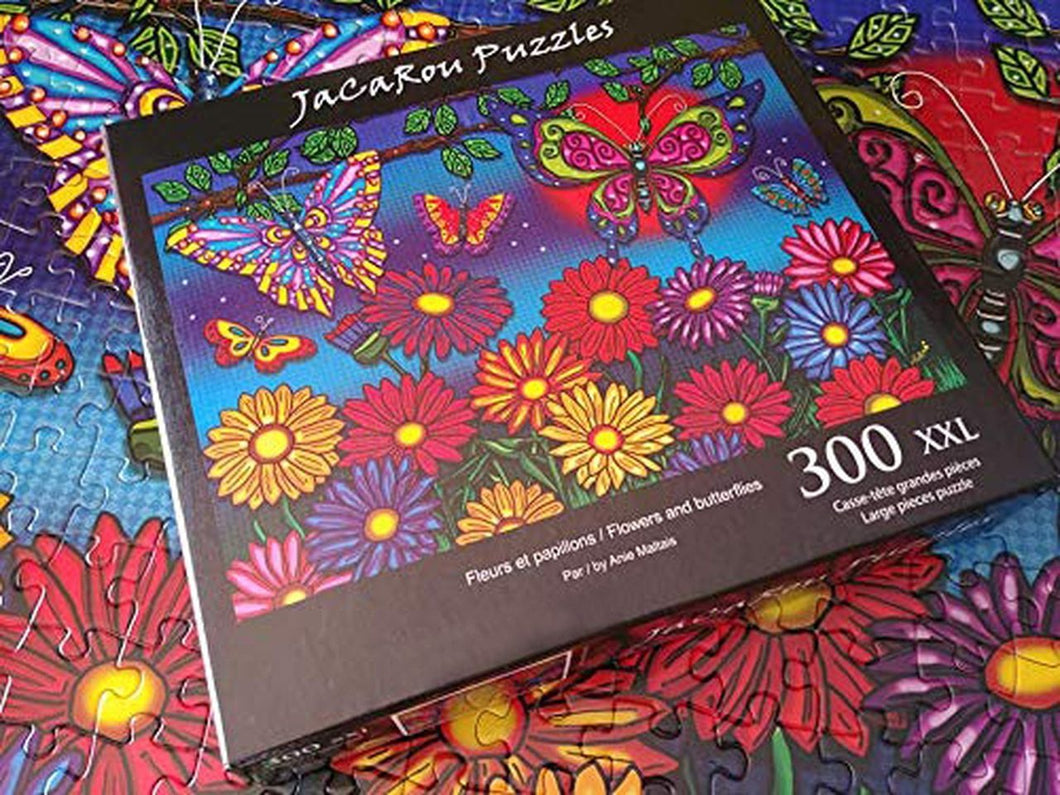 Flowers & Butterflies 300pc Large Format Puzzle