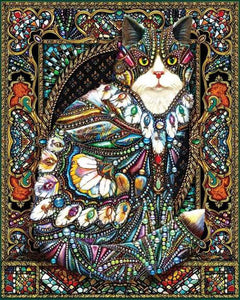 Jeweled Cat 1000pc Large Format Puzzle