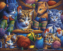 Load image into Gallery viewer, Kittens Knittin' Mittens 300pc Puzzle