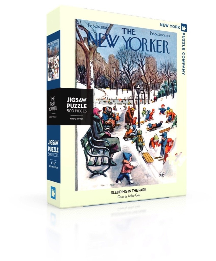 The New Yorker: Sledding in the Park 500pc Puzzle