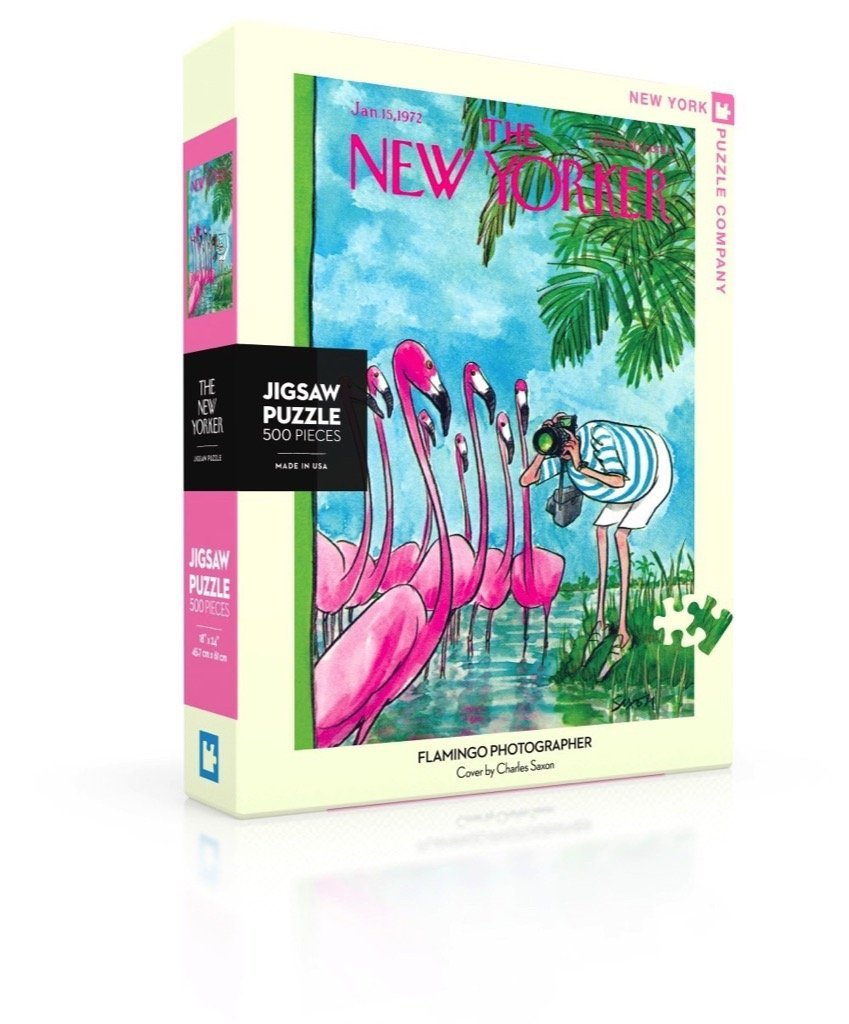 The New Yorker: Flamingo Photographer 500pc Puzzle