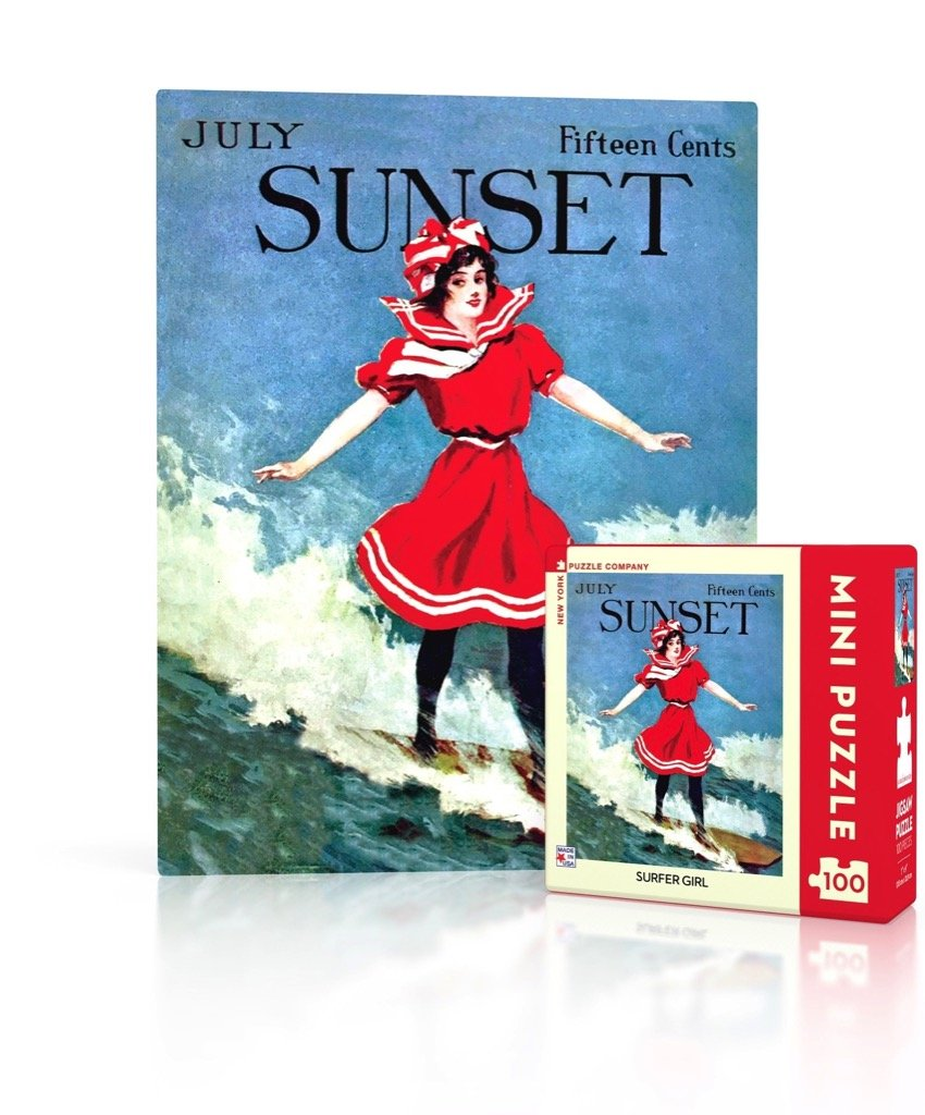 Sunset: Surfer Girl 100pc Mini Puzzle