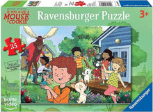 Load image into Gallery viewer, If You Give a Mouse a Cookie: Mouse's Backyard 35pc Puzzle