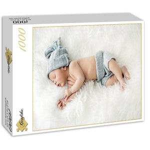 Baby Sleeping in Feathers by Konrad Bak 1000pc Puzzle