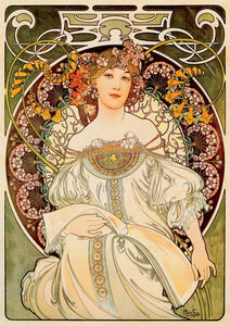 Reverie by Alphonse Mucha 1000pc Puzzle