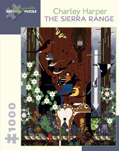 The Sierra Range by Charley Harper 1000pc Puzzle