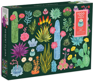 Desert Flora 1000pc Puzzle with Shaped Pieces