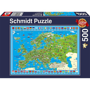 Discover Europe 500pc Puzzle