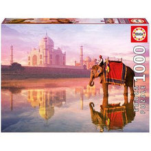Load image into Gallery viewer, Elephant At Taj Mahal 1000pc Puzzle