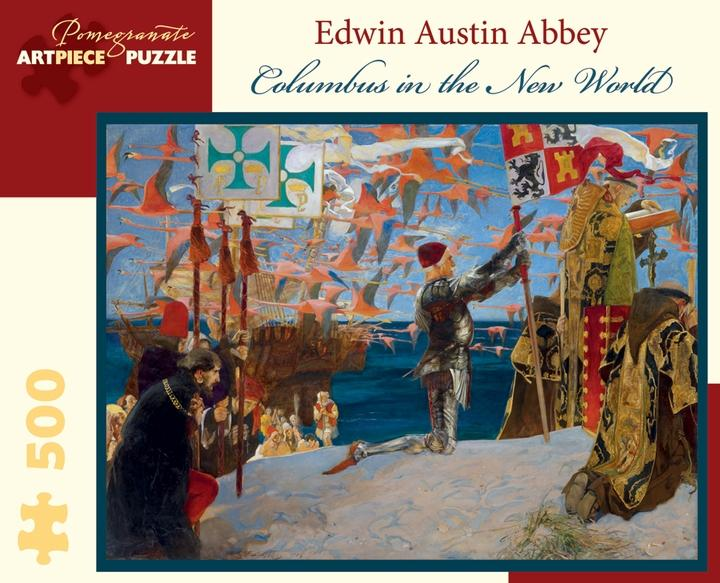 Columbus in the New World by Edwin Austin Abbey 500pc Puzzle
