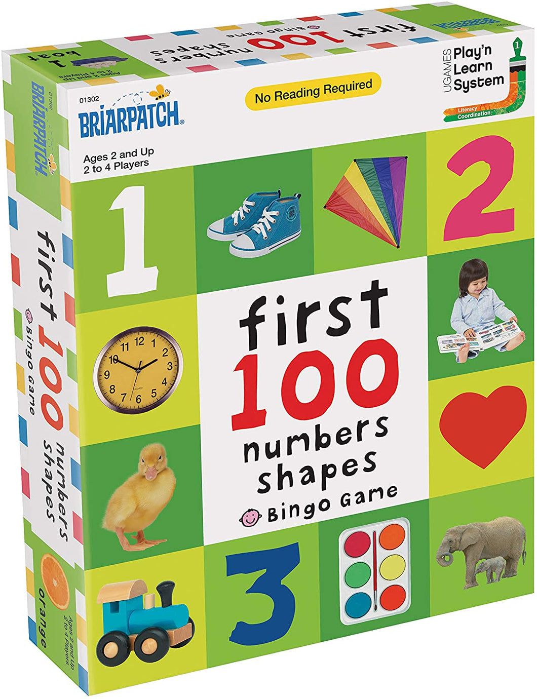 First 100 Numbers-Shapes Bingo Game