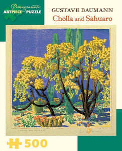 Cholla and Sahuaro by Gustave Baumann 500pc Puzzle