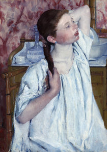 Girl Arranging Her Hair, 1886 by Mary Cassatt 1000pc Puzzle