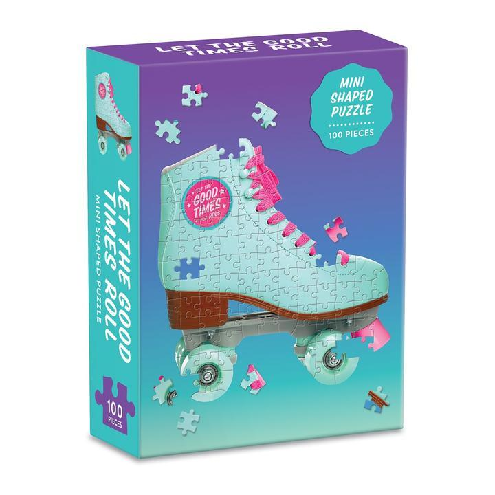 Let the Good Times Roll Roller Skate 100pc Mini Shaped Puzzle