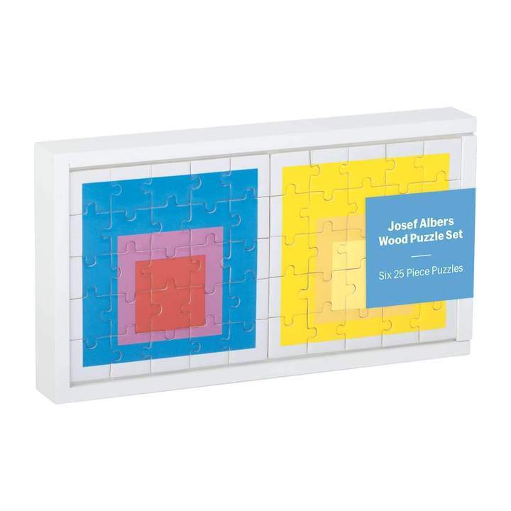 MoMA Josef Albers Wooden Puzzle Set (6 x 25pc)