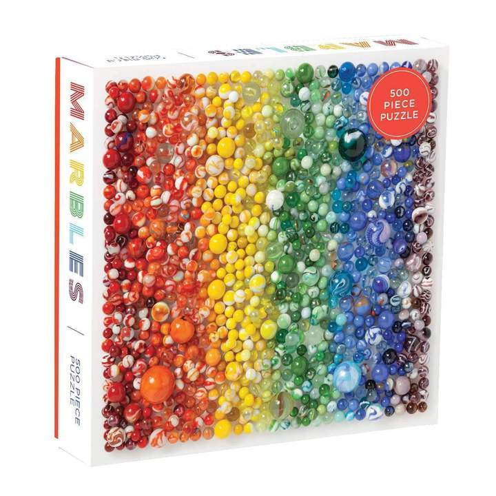 Rainbow Marbles 500pc Puzzle
