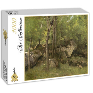 Rocks in the Forest of Fontainebleau, 1860-1865 by Jean-Baptiste-Camille Corot 2000pc Puzzle