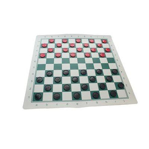 International Checkers Set w/ Roll-Up Board