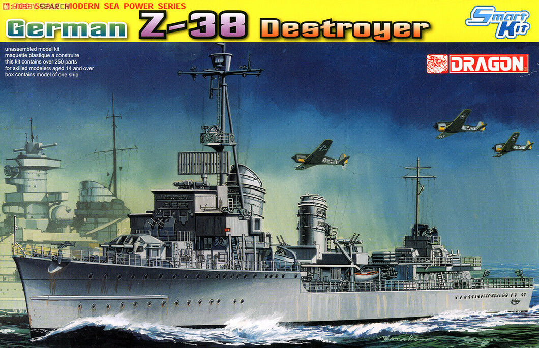 Modern Sea Power Series: 1:700 German Z-38 Destroyer - Smart Kit