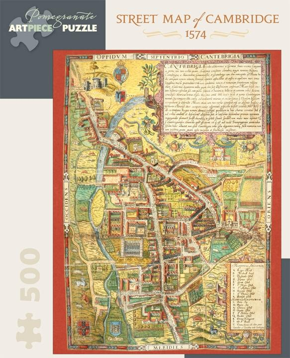 Street Map of Cambridge, 1574 500pc Puzzle