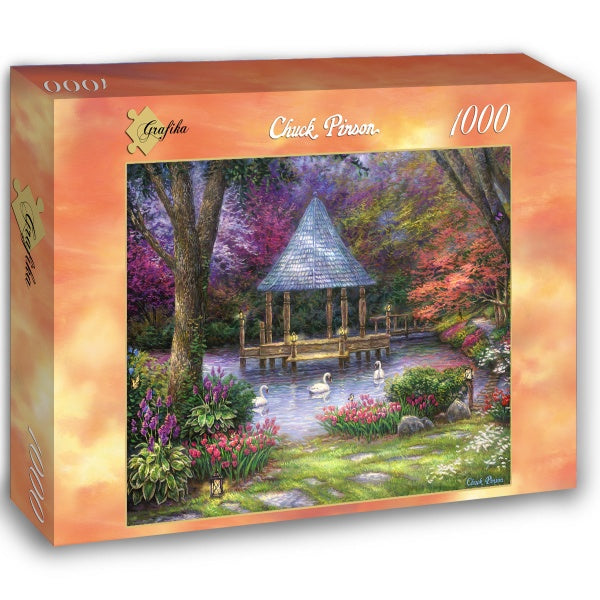 Swan Pond by Chuck Pinson 1000pc Puzzle