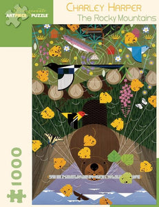 The Rocky Mountains by Charley Harper 1000pc Puzzle
