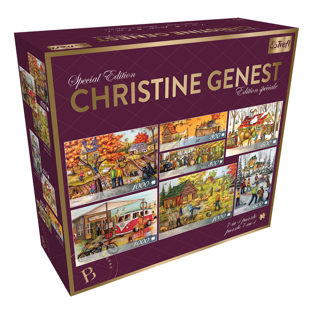 Special Edition Christine Genest 7-in-1 Puzzle Set - 300pc, 500pc, 1000pc Puzzles