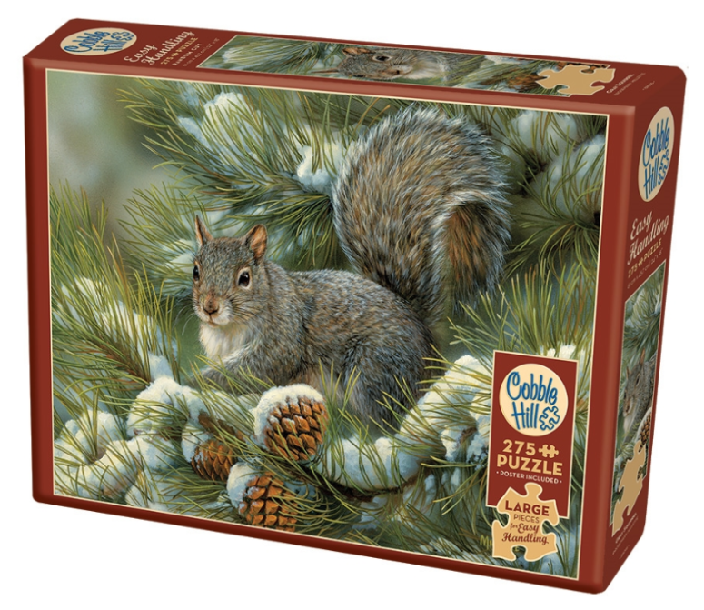 Gray Squirrel 275pc Large Format Puzzle