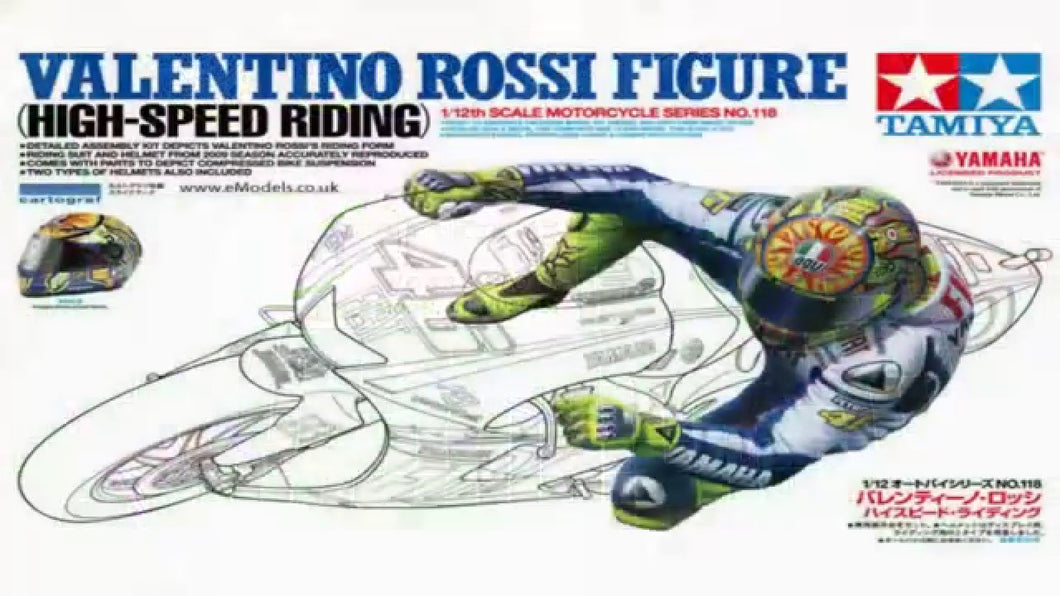 1:12 Valentino Rossi Figure (High-Speed Riding)