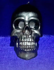 Large  Black Bleeding Skull Candle